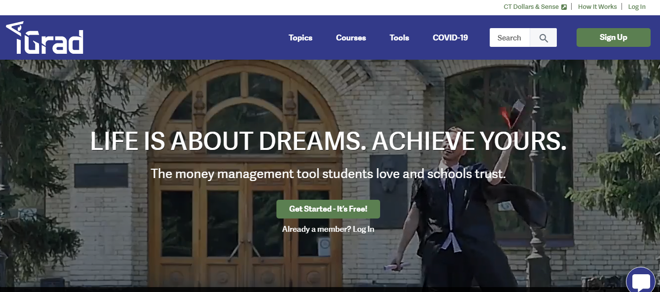 The iGrad website screenshot